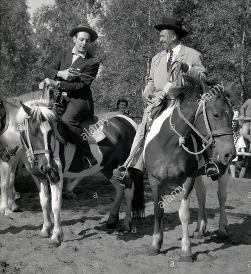 Georges Guétary et Jean Richard à la Mer de Sable