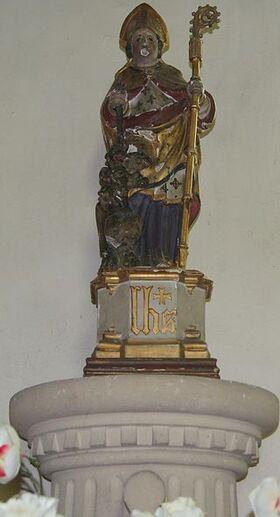 Statuette Saint-Germain d'Ecosse et le dragon à sept tête Eglise Saint-Germain de Saint-Germain-sur-Bresle ERNOUF Guillaume.JPG