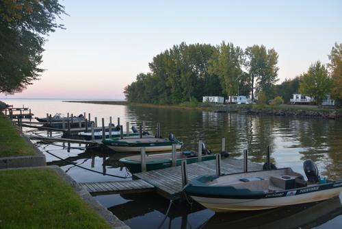 camping à Louisville embouchure sur le Saint Laurent