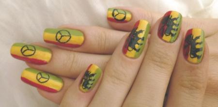 Nail Art reggae