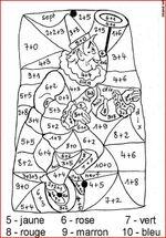 coloriages éducatifs mathématiques