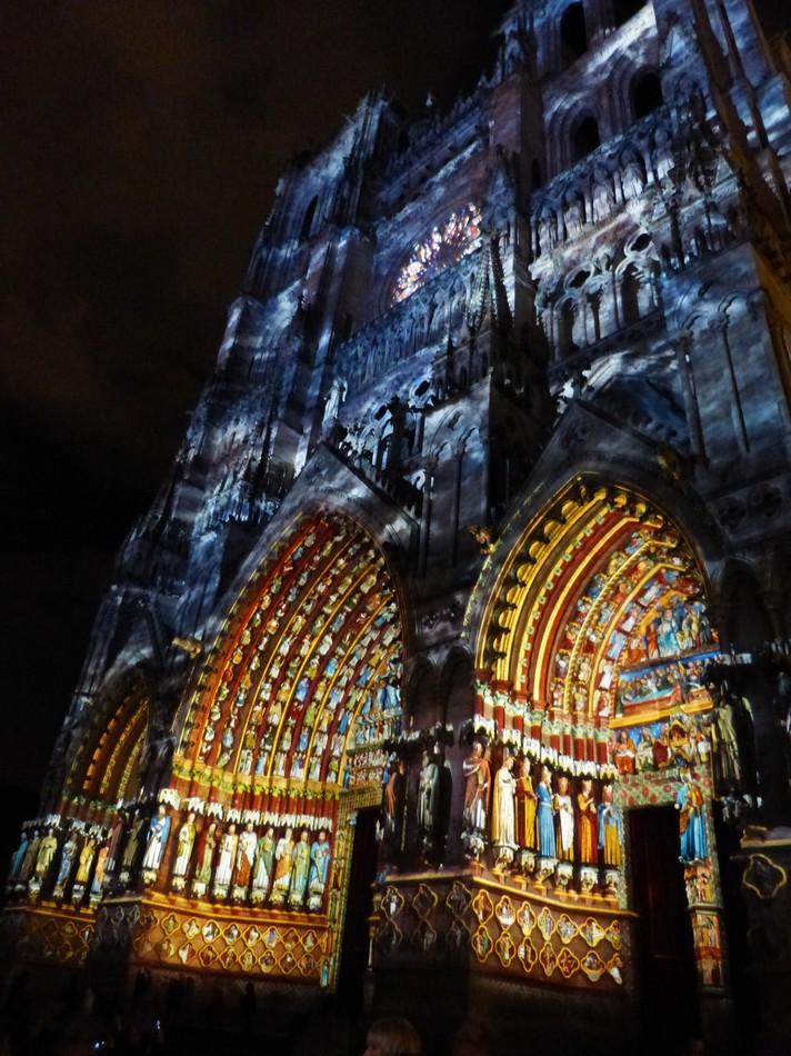La Cathédrale d'Amiens dans ses couleurs d'origine