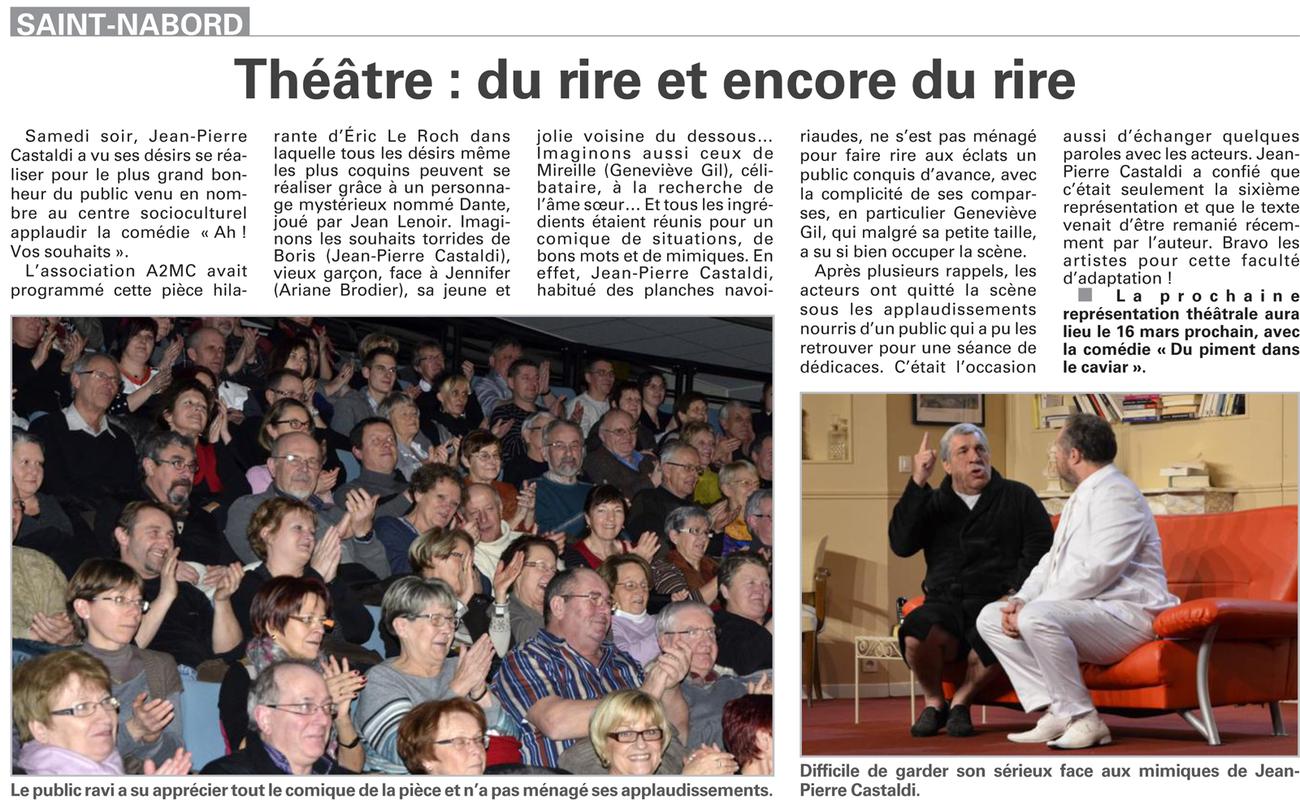 Février 2013 - Vosges Matin (Théâtre)
