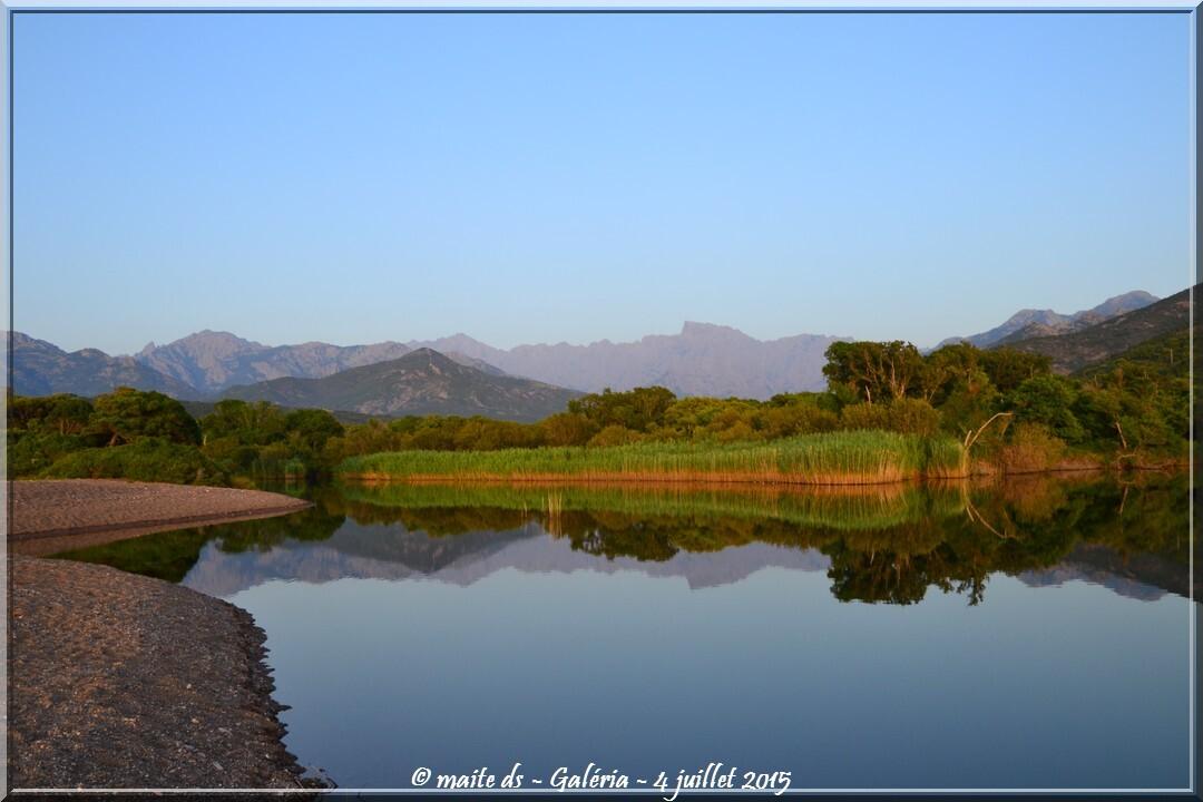 Reflets sur l'embouchure du Fango - Galéria - Corse