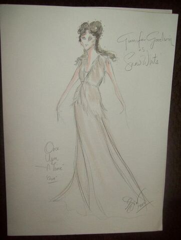 Snow White - Original Once Upon A Time costume sketch by Eduardo Castro: