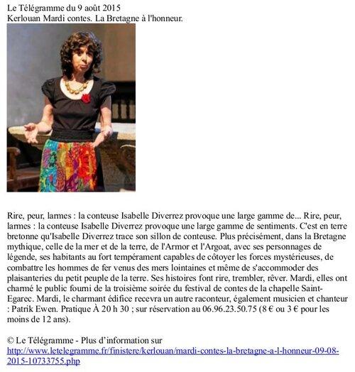 Isabelle DIVERREZ 4 août Télégramme