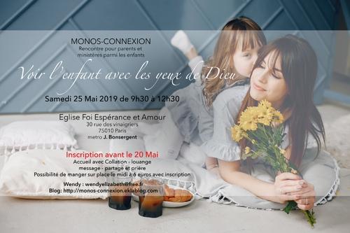 Rappel Matinée Monos-Connexion : 25 Mai 2019