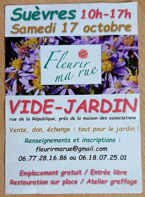 Vide-jardin à Suèvre (41) 17 octobre 2020