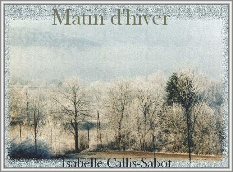 """"""" Matin d'hiver """" d'Isabelle Callis-Sabot"""