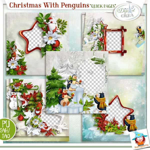 CHRISTMAS WITH PENGUINS by KASTAGNETTE
