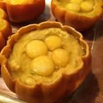 Oeufs de caille en mini citrouilles