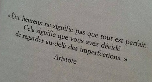 Citation de...Aristote..