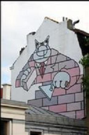 Promenade dans Bruxelles avec les BD en photo