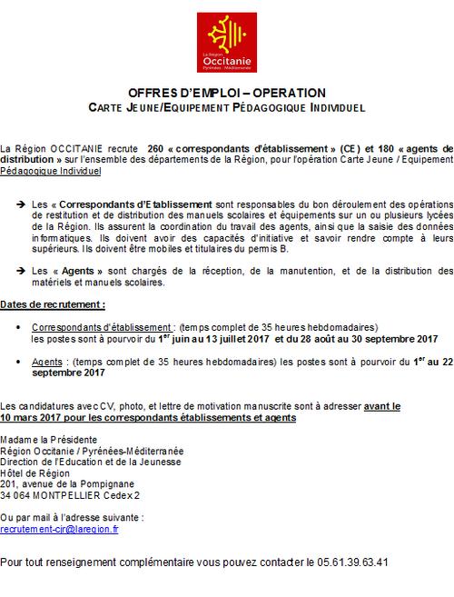 La Région Occitanie recrute