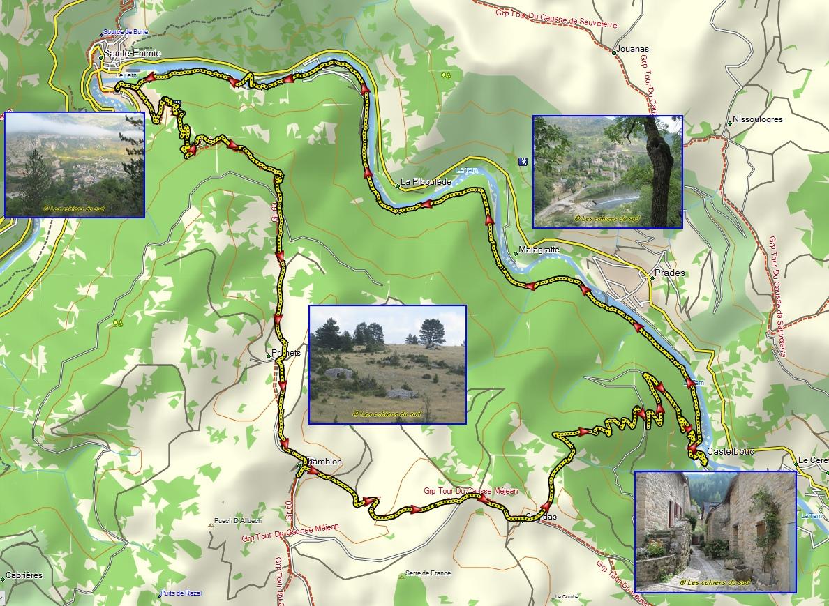 Gorges Du Tarn De Ste Enimie A Castelbouc Les Cahiers Du Sud Li Caier Dou Miejour