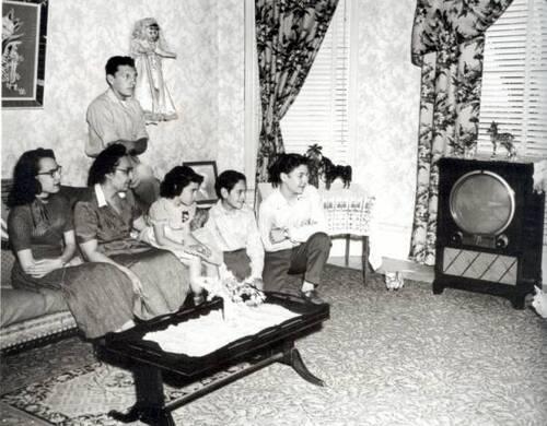 La télé en Amérique, en famille