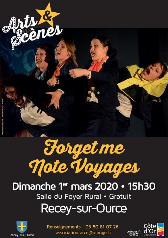 """""""Arts et Scènes"""" présentent """"Forget me Note Voyages"""" à Recey sur Ource"""