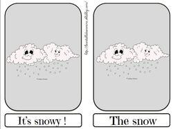 Flashcards snow