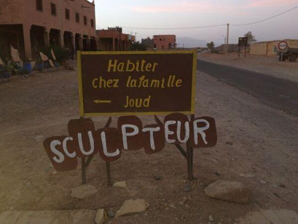 Sur la route d'Aït Ben Haddou