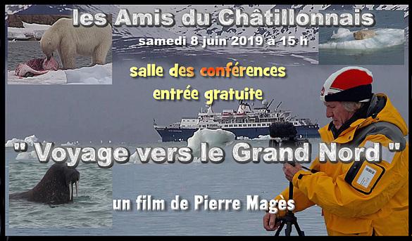 Pierre Magès va bientôt présenter salle des Conférences, sur grand écran, le film de son voyage au Spitzberg....