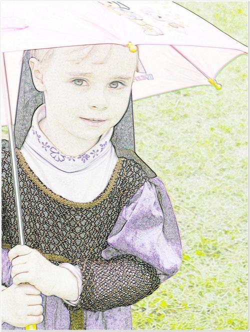 La petite au parasol.......