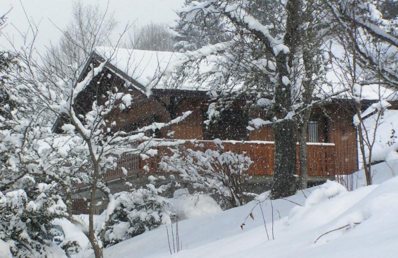 Bonjour....  chalet savoyard sous la neige....