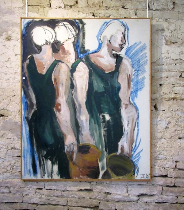 Karin Neumann expose actuellement ses peintures et ses installations, rétrospective de son travail  depuis qu'elle vit dans le Châtillonnais,  à Nesle et Massoult