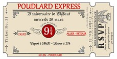 Anniversaire Harry Potter billet train poudlard
