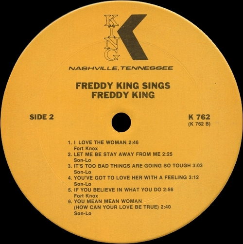 "Freddy King : Album "" Freddy King Sings "" King Records 762 [ US ]"