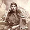 A Kiowa woman. ca. 1898. Photo by J.E. Irwin. Source - Yale Collection of Western Americana, Beineck