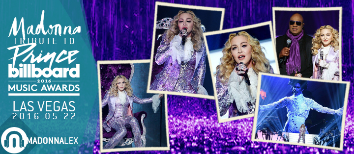 Madonna hommage Prince Stevie Wonder Billboard Music Awards