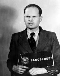 Martin Sandberger, lors de son arrestation par les Alliés.