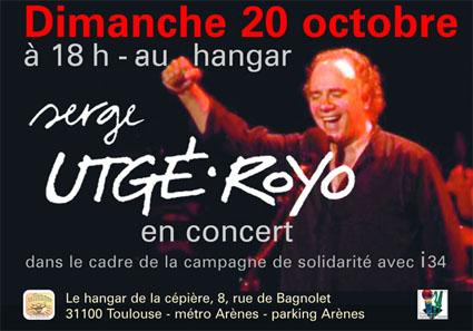 20 octobre : concert de serge utgé royo