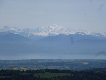 Vue du sommet - Panorama à 360° - Mont-Blanc - Lac Léman