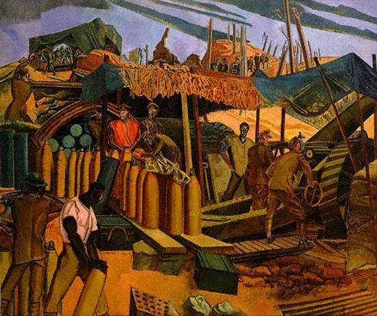 Wyndham Percy Lewis, Une position d'artillerie Canadienne, 1918