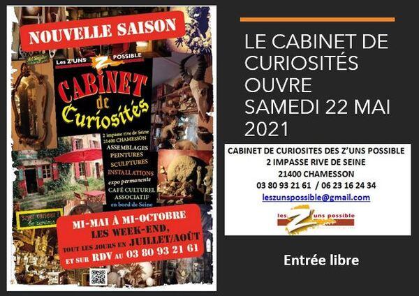 Réouverture du cabinet des Z'un possible à Chamesson samedi 22 mai !