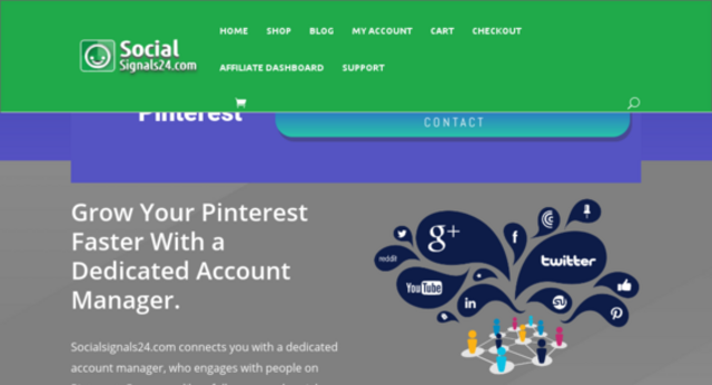 Socialsignals24.com connects you with a dedicated account manager, who engages with people on Pinterest