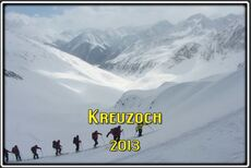 Le Kreuzjoch dans les Alpes de Stubai en Autriche