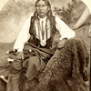Chief Big Tree. Kiowa. 1870s. Photo by W.P. Bliss. Source - Southern Methodist University, Lawrence