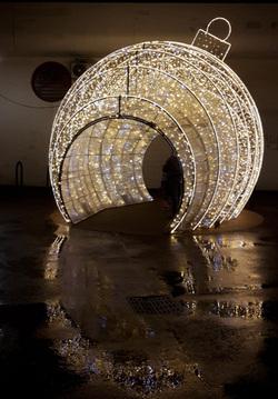 Sphère illuminée aux 7 Mares d'Elancourt