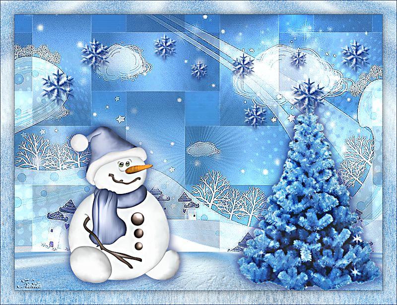 Décembre jour 1/ Noël en bleu Caroline