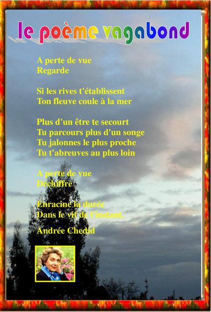 Nos poèmes vagabonds