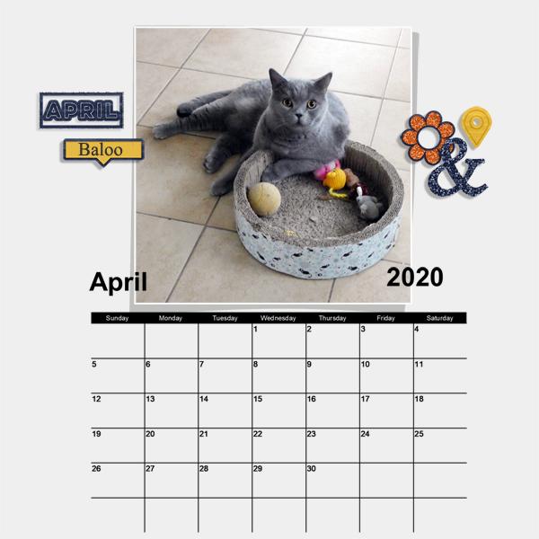 April calendar set - Travel the world