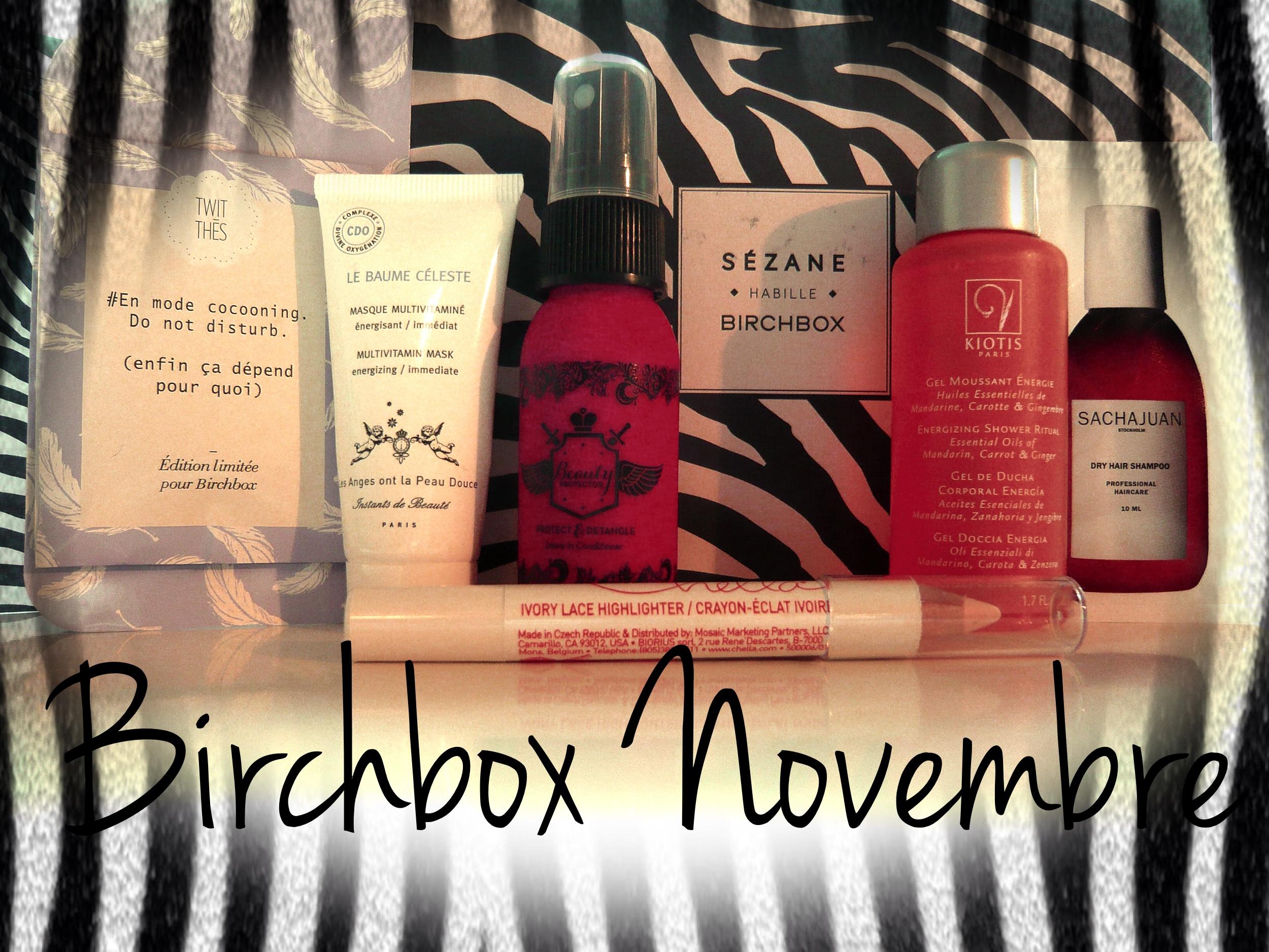 Birchbox Novembre...
