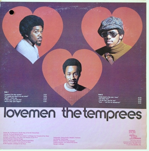 "The Temprees : Album "" Lovemen "" We Produce Records XPS-1901 [ US ]"