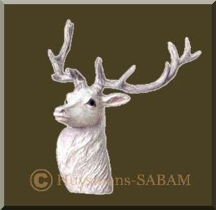 Sculpture animalière: tête de cerf en ronde-bosse, profil - Arts et sculpture: artiste peintre, sculpteur animalier