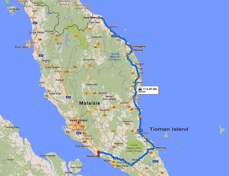 26 Juillet - Adieu Tioman... Bonjour Malacca