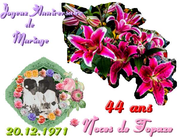 Anniversaire De Mariage Bienvenue Chez Estrelita