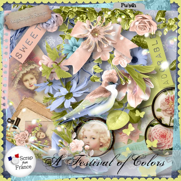 A festival of colors de Angelique's scrap