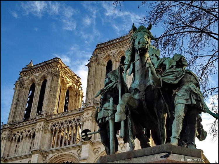 Notre-Dame, Charlemagne et ses Leudes